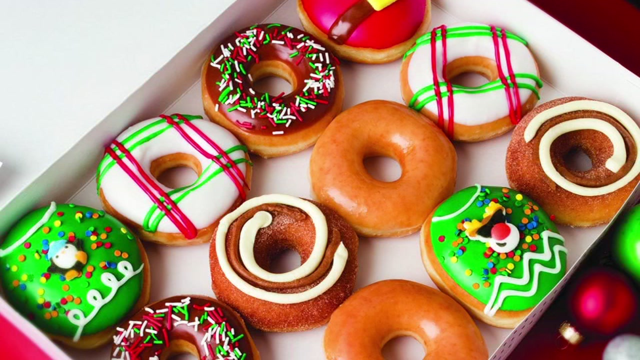 Festive doughnuts just in time for the holiday season.