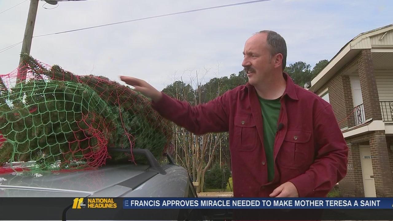 Wake man giving away Christmas trees