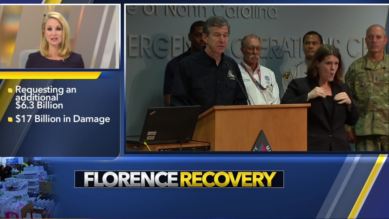 Gov. Cooper seeks $6.3 billion more from Congress for Florence relief