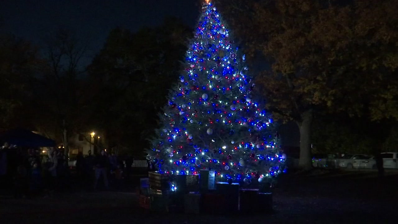 it was a fun family night as Fort bragg lights its tree for the holidays.