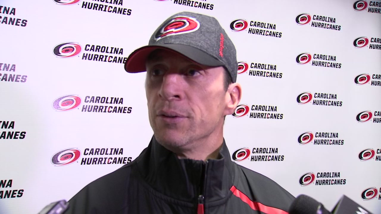 Hurricanes coach Rod BrindAmour talks about the roster move.