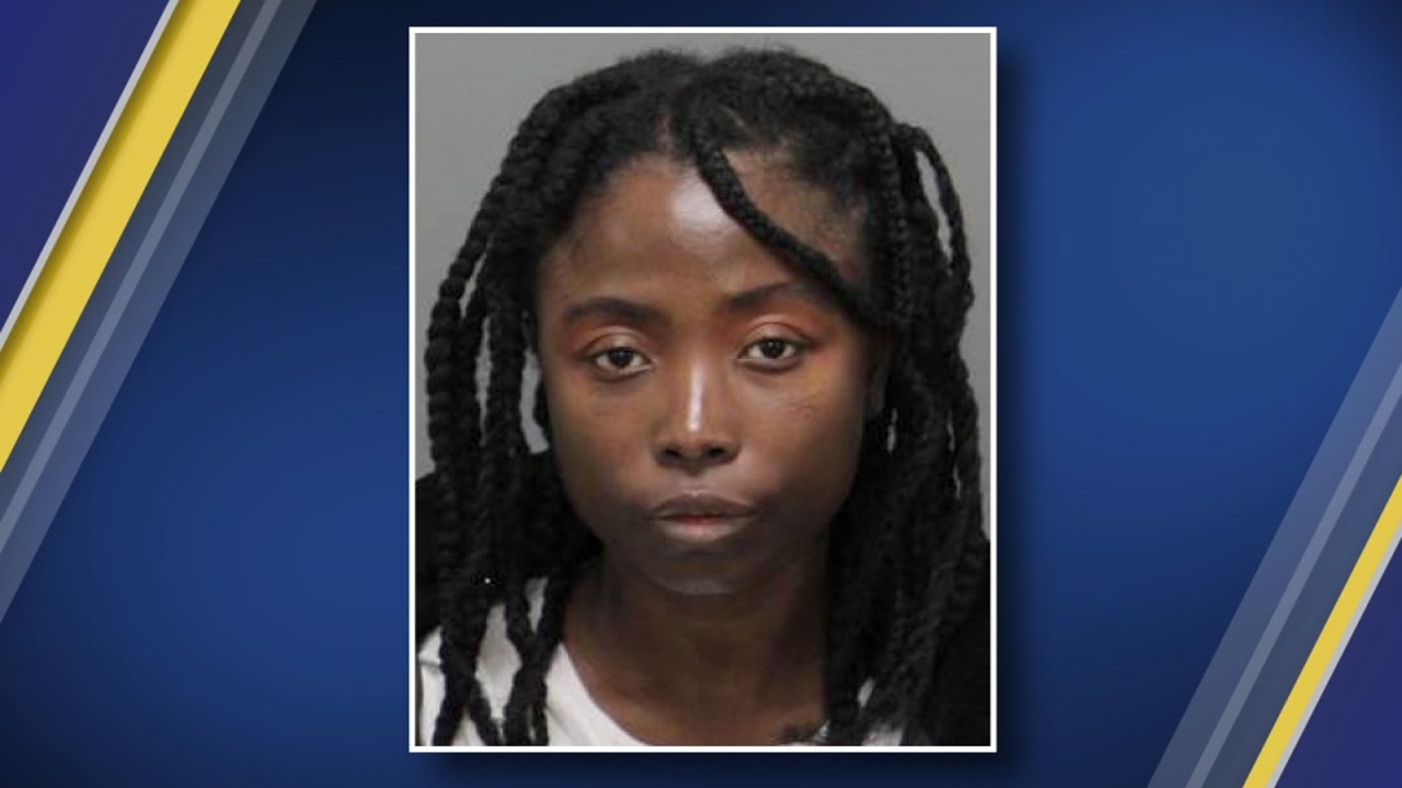 Morrisville police have arrested a woman after they say she left her 22-month-old child in the car for over an hour without supervision.