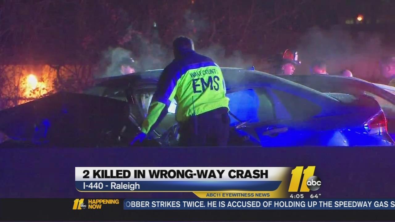 Two die in wrong-way crash