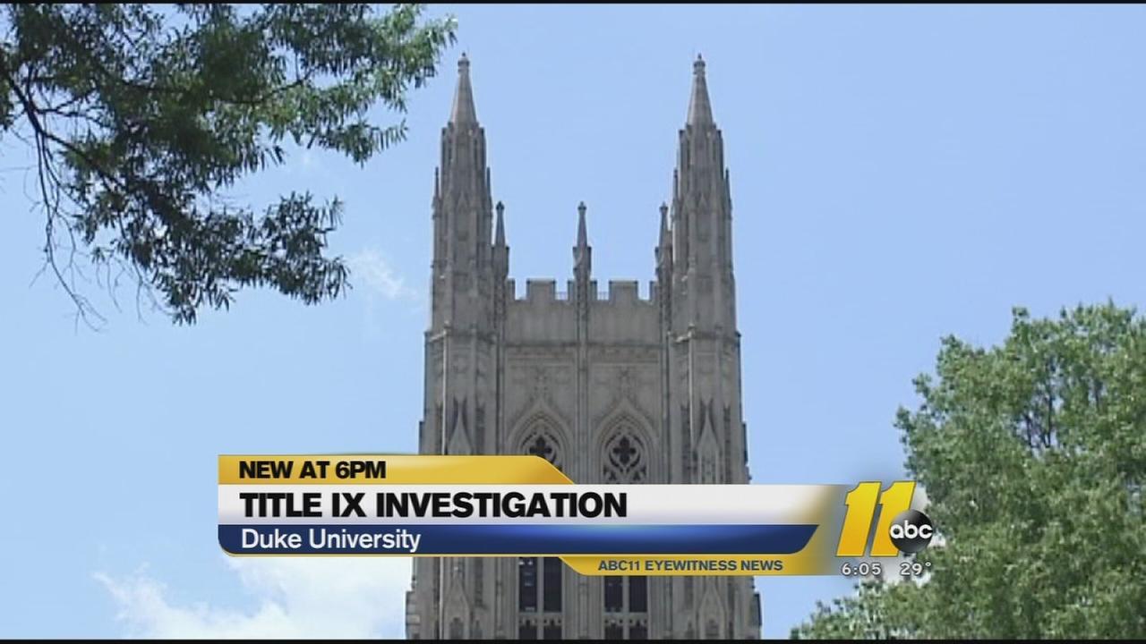 Title IX probe at Duke