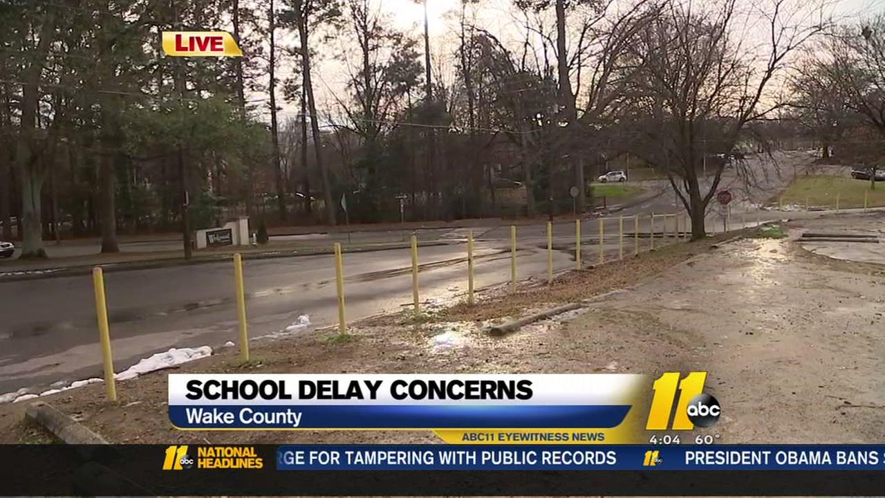 School delay concerns