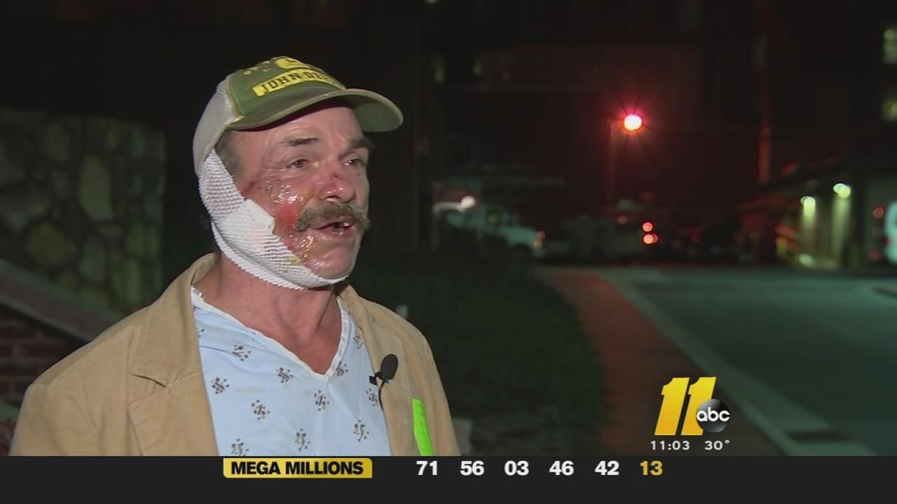 Flare gun victim speaks