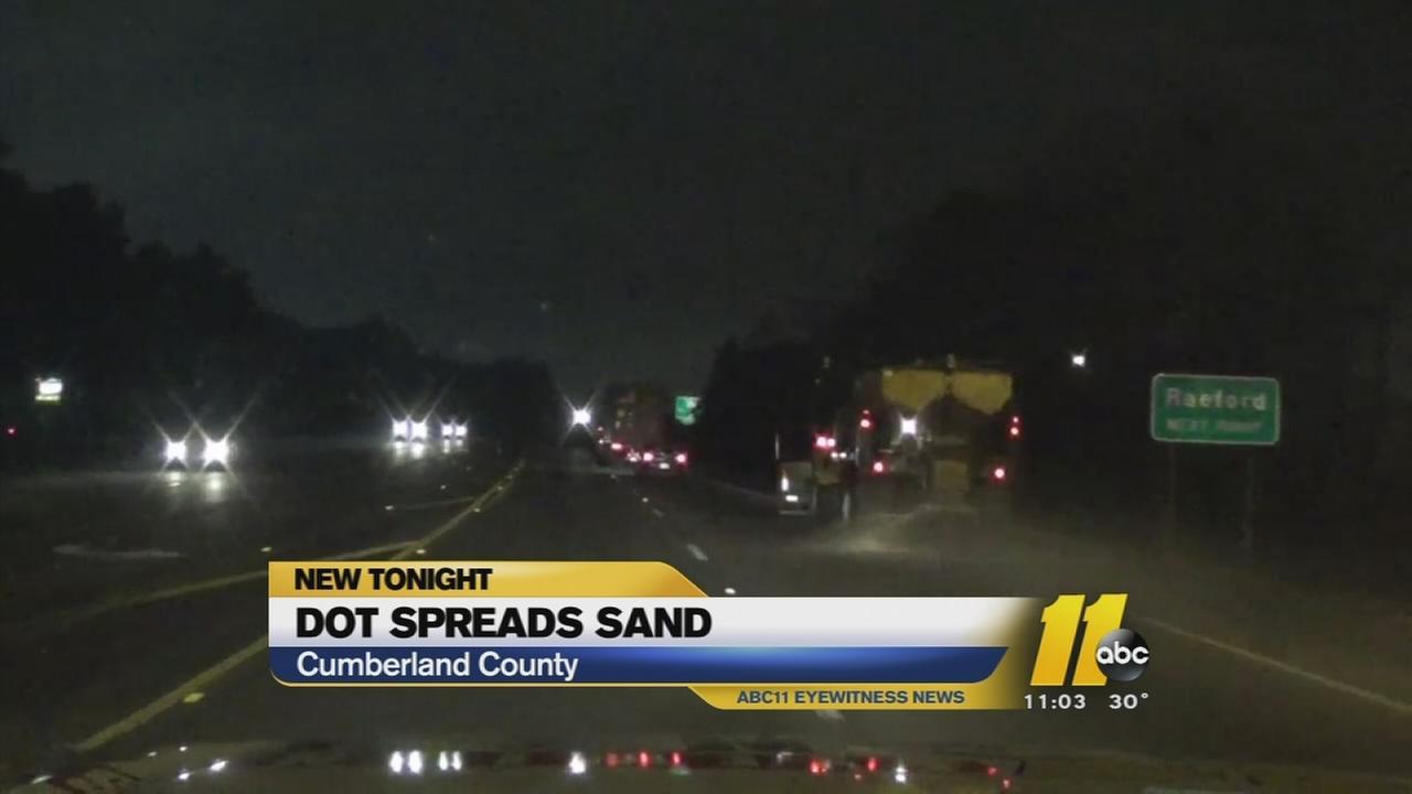 DOT spreads sand
