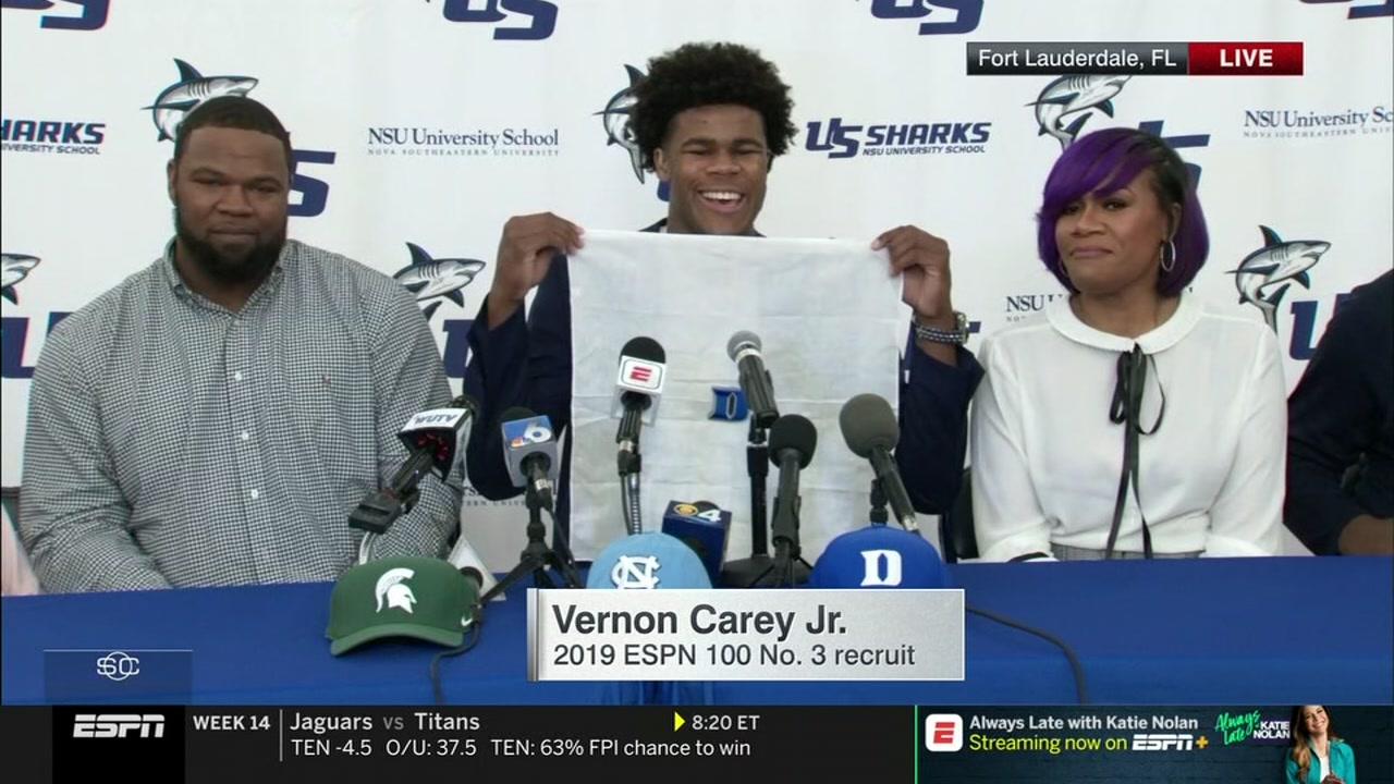 Top prospect Vernon Cary chooses DUKE