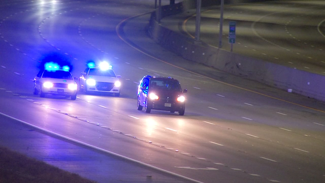 Wake County Sheriffs Deputies raced down Interstate 40 westbound chasing a driver around 2:15 a.m.