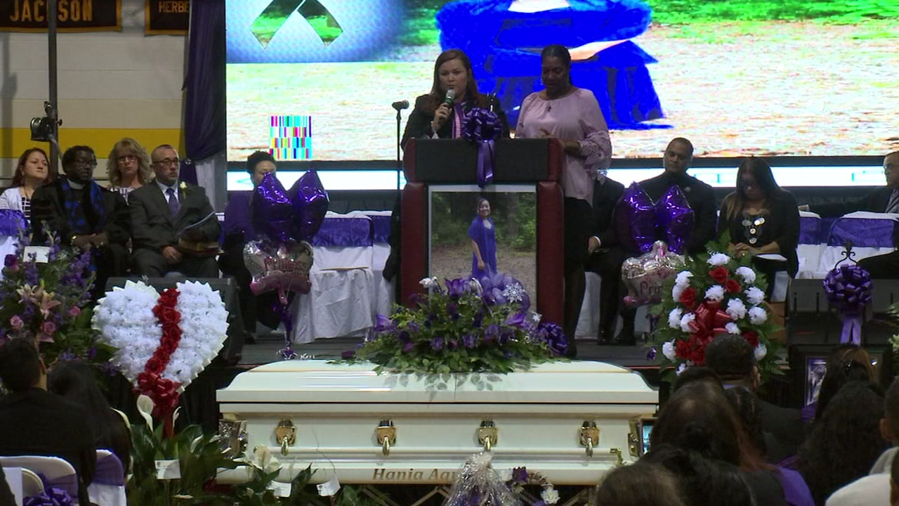 Family, friends say goodbye to Hania Aguilar