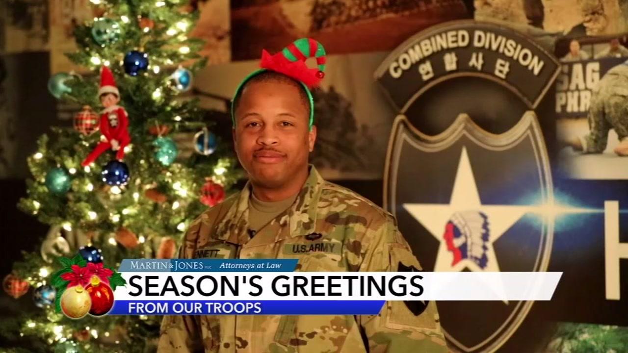 Seasons Greetings from Staff Sgt. Bennett.