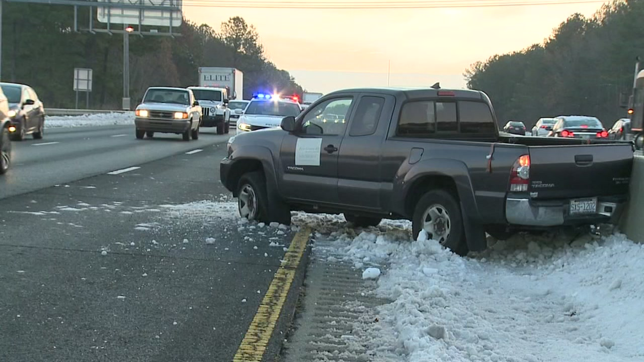 Icy roads in North Carolina blamed for more than 2,300 crashes