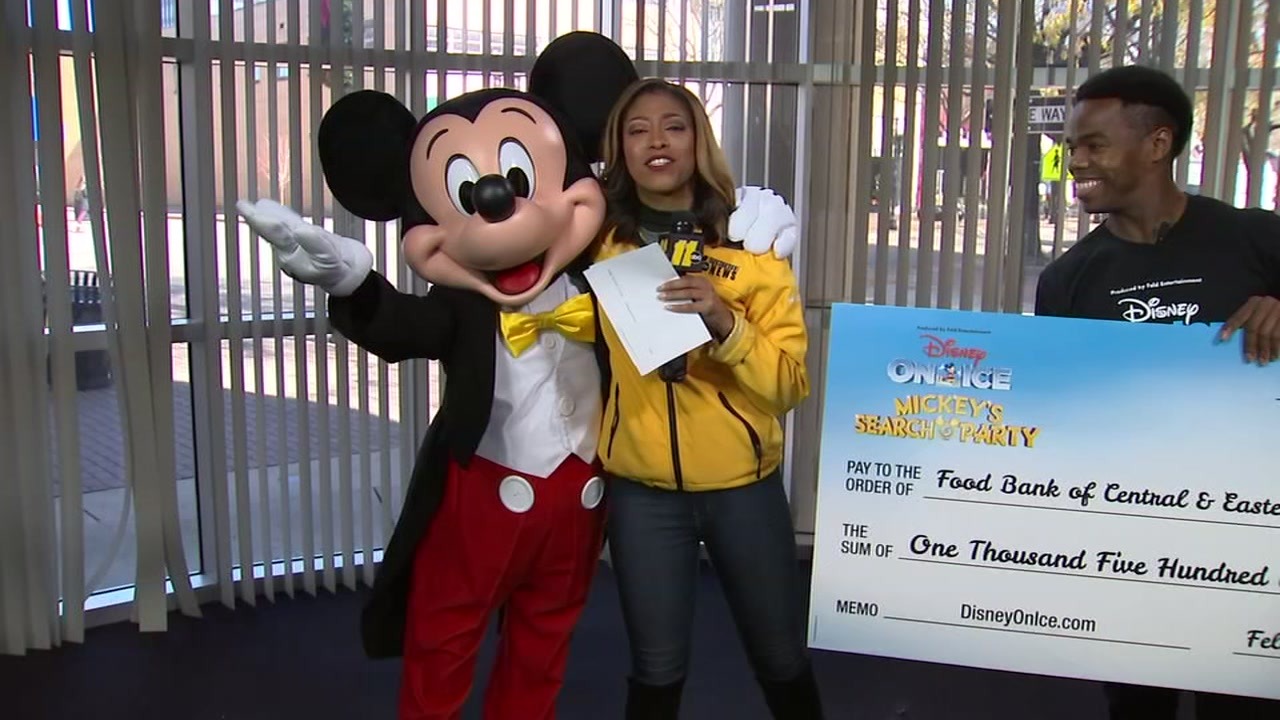 Mickey Mouse was here to lend a helping hand to the ABC11 Together Food Drive.