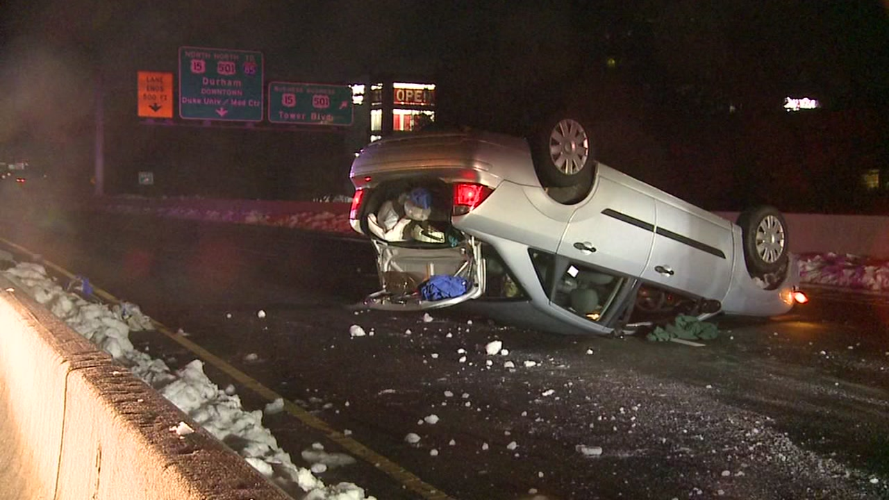One North Carolina man is feeling lucky after he flipped his car Tuesday morning and walked away unharmed.