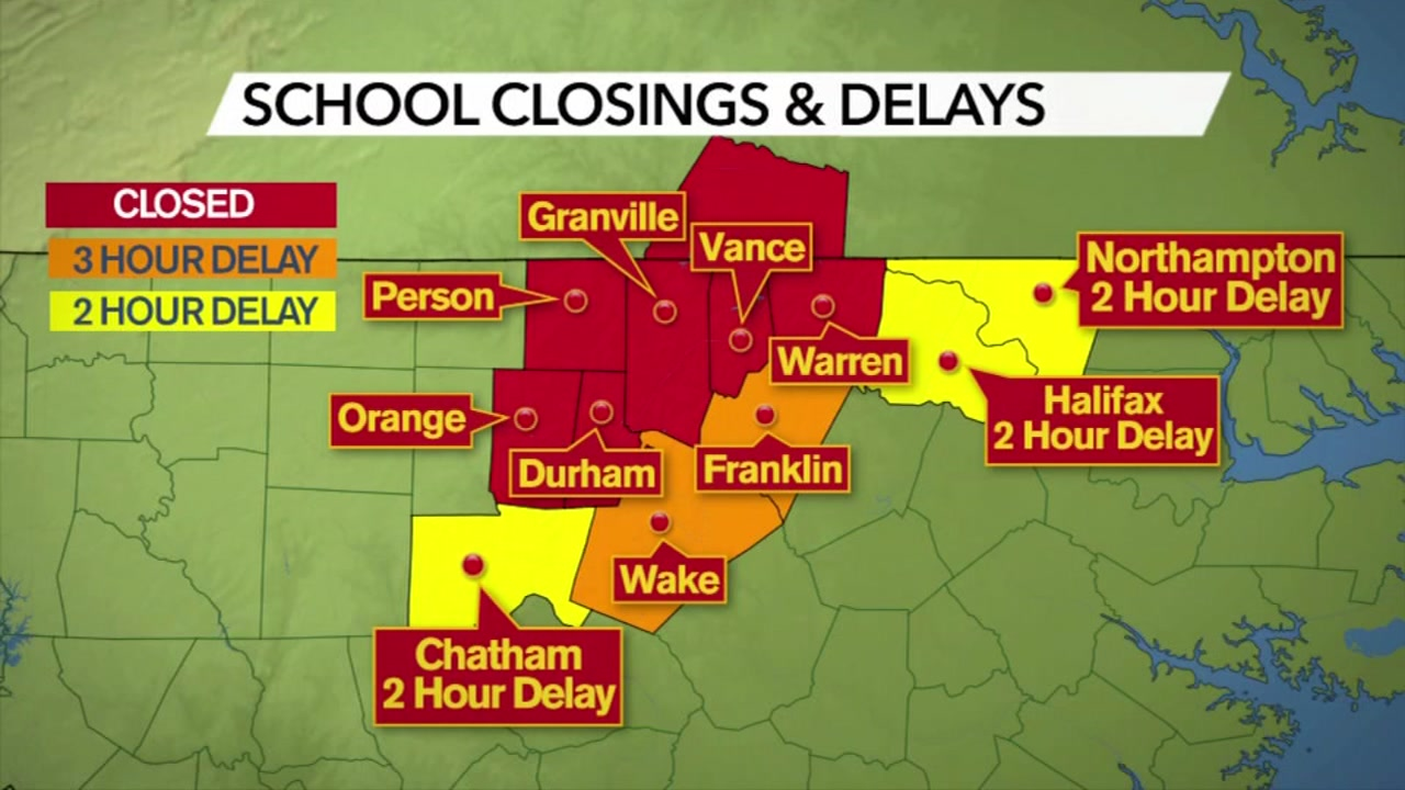 Schools close and delay operations as dicey conditions linger.