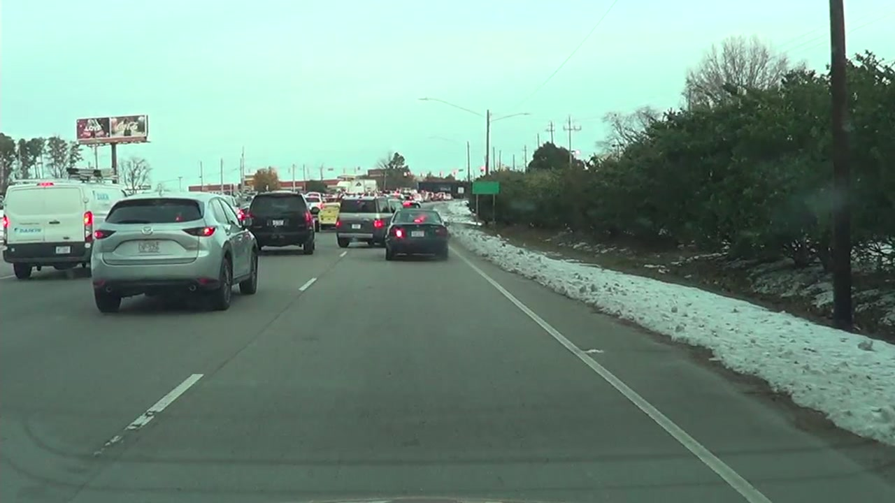 Black ice warning: Icy roads in North Carolina blamed for
