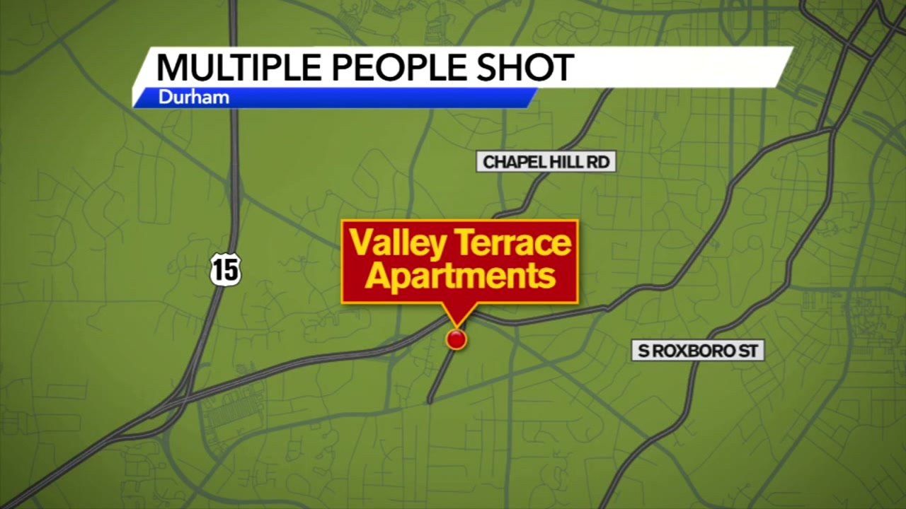 Multiple people shot at apartment complex in Durham