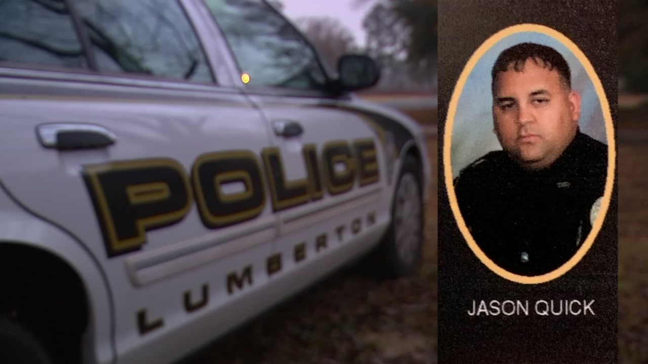 Wife of fallen Lumberton police officer speaks to ABC11