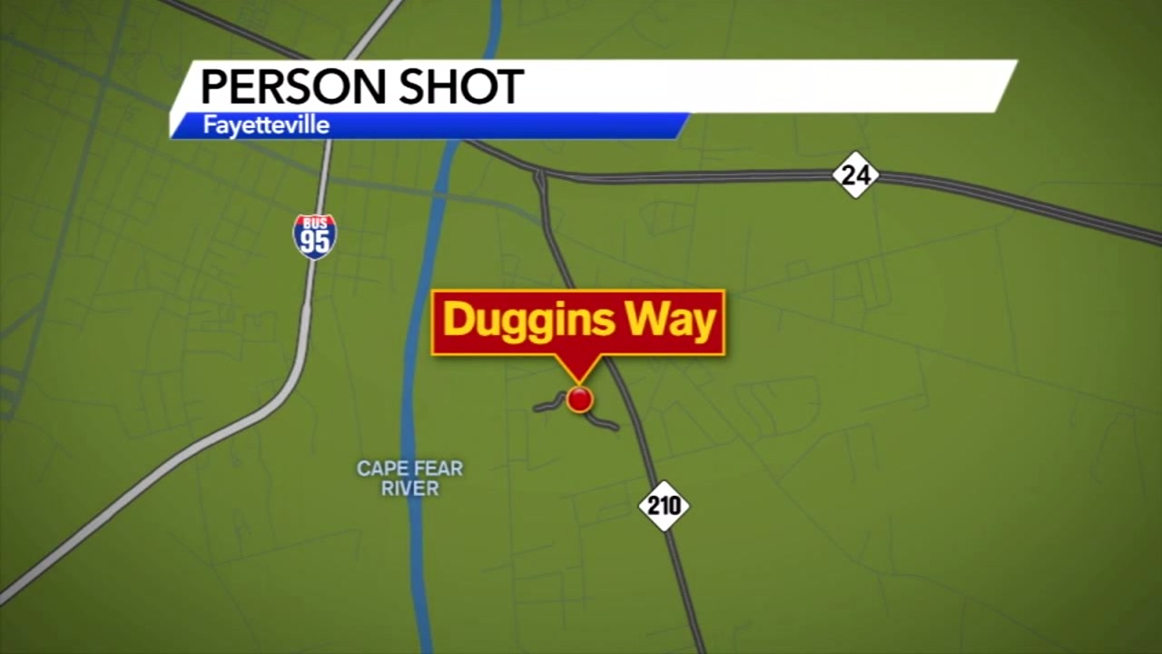 The shooting happened on Duggins Way late Sunday night.