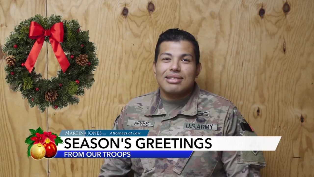 Military Greetings from Staff Sgt. Reyes.