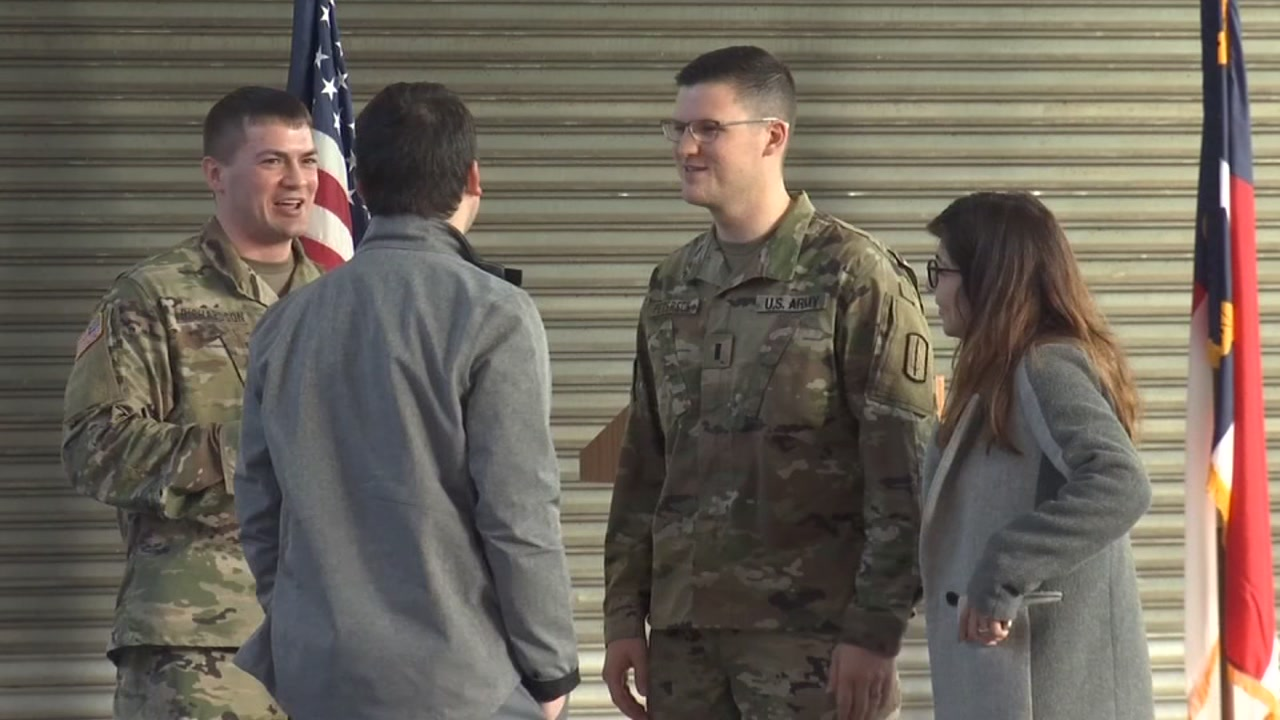 National Guardsmen return home.