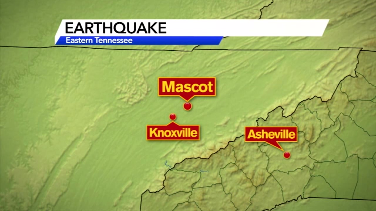 For the second time in a week, an earthquake rattled eastern Tennessee.