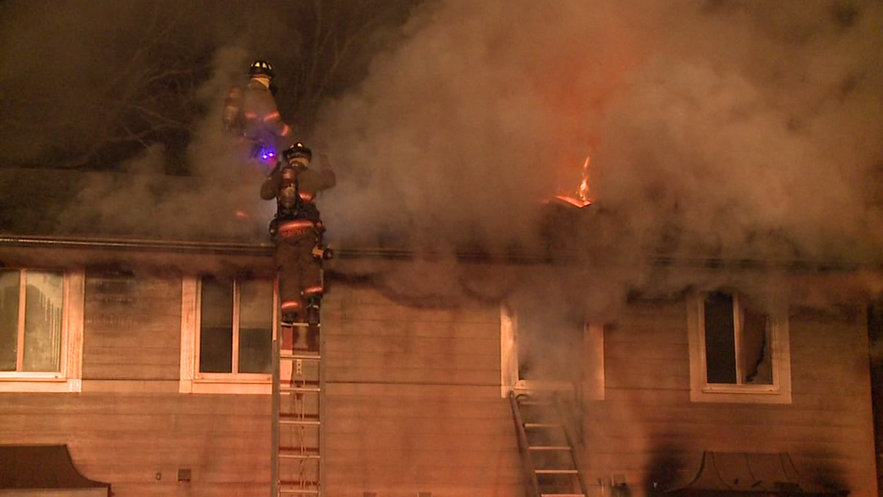 A Christmas tree may be partly to blame for a fire that sent one person to the hospital and displaced two families.
