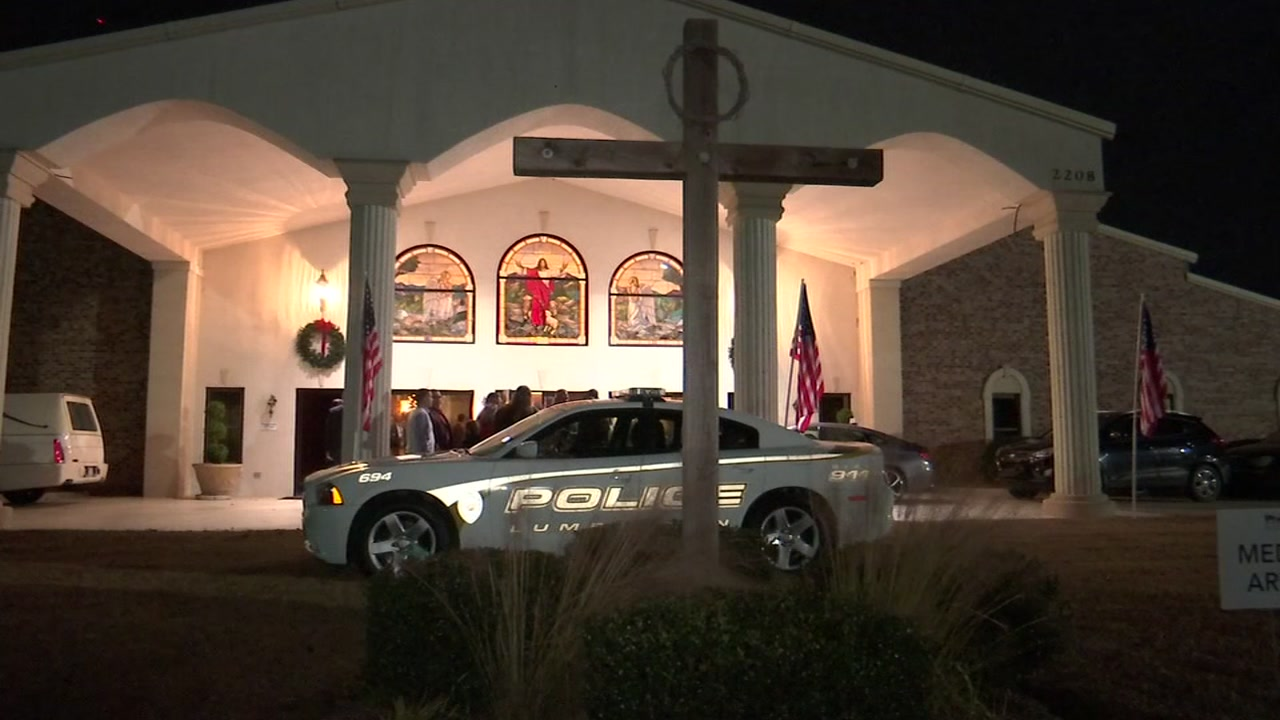 In Lumberton, a packed house said goodbye to a fallen police officer