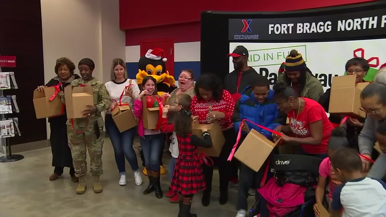 Fort Bragg families surprised with paid-off layaway items.