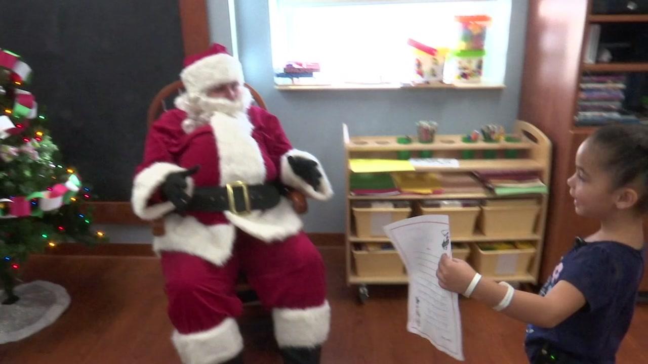 Santa visits Cape Fear Health days ahead of Christmas.