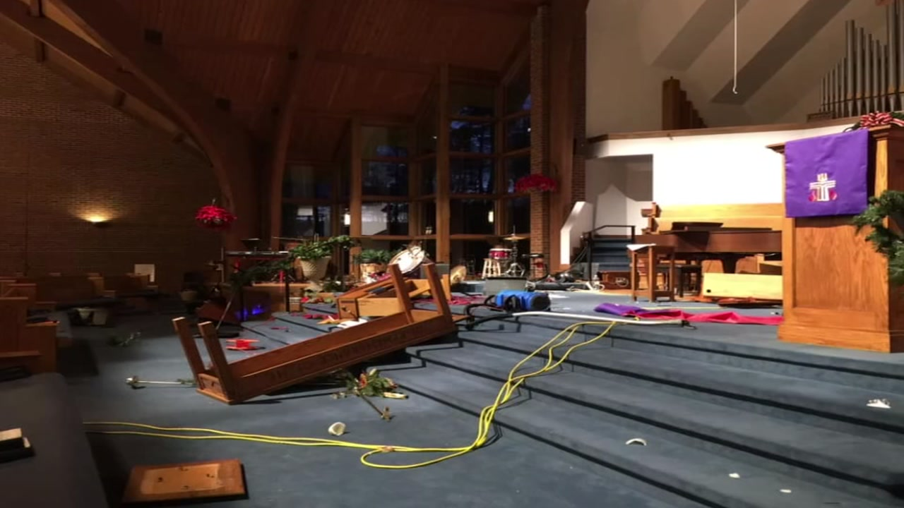 Congregation comes together after Raleigh church vandalized
