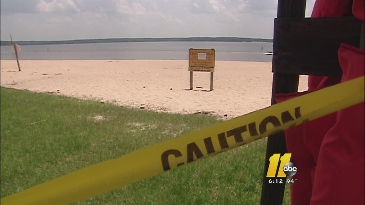 Some Falls Lake beaches were closed earlier this week.