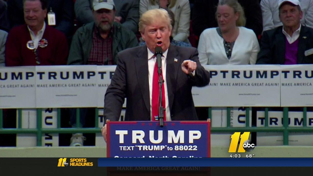 Trump faces protestors in North Carolina