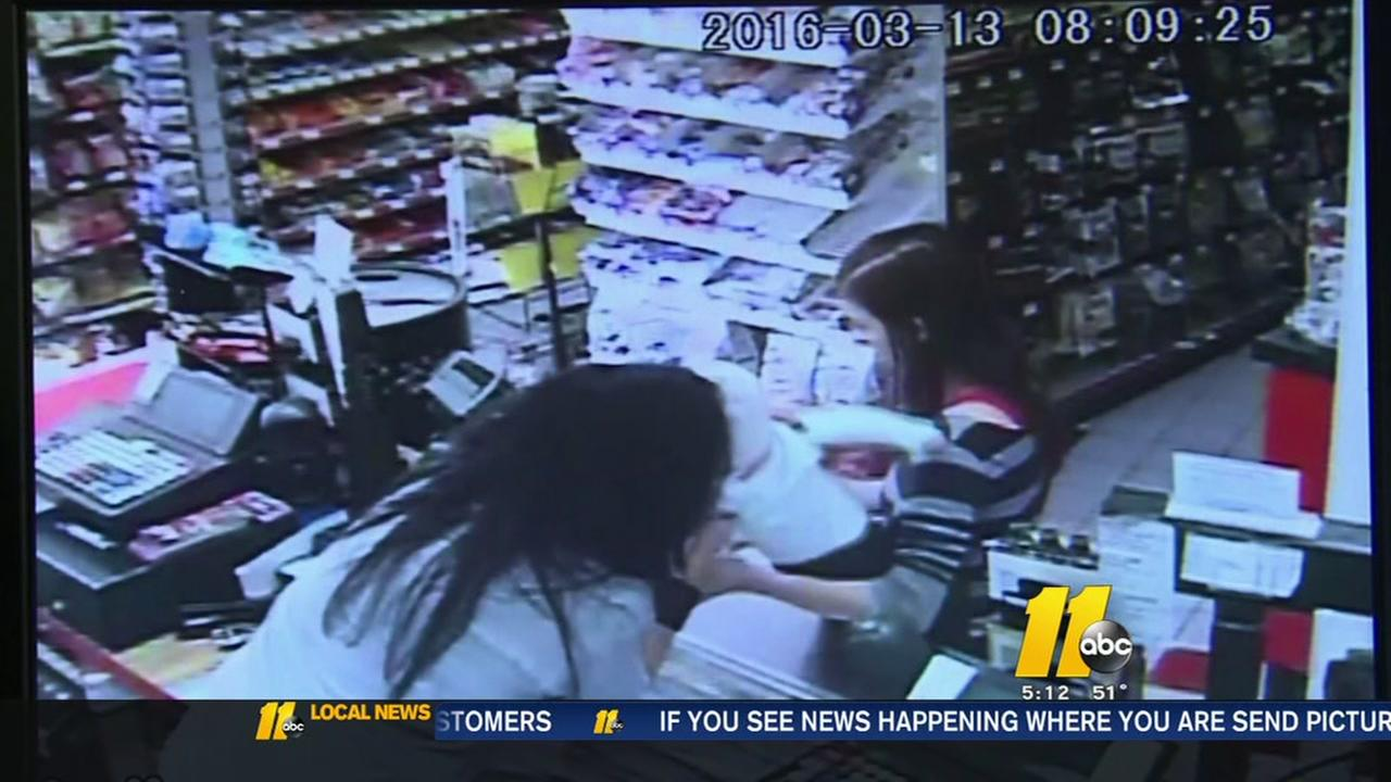 Clerk saves baby
