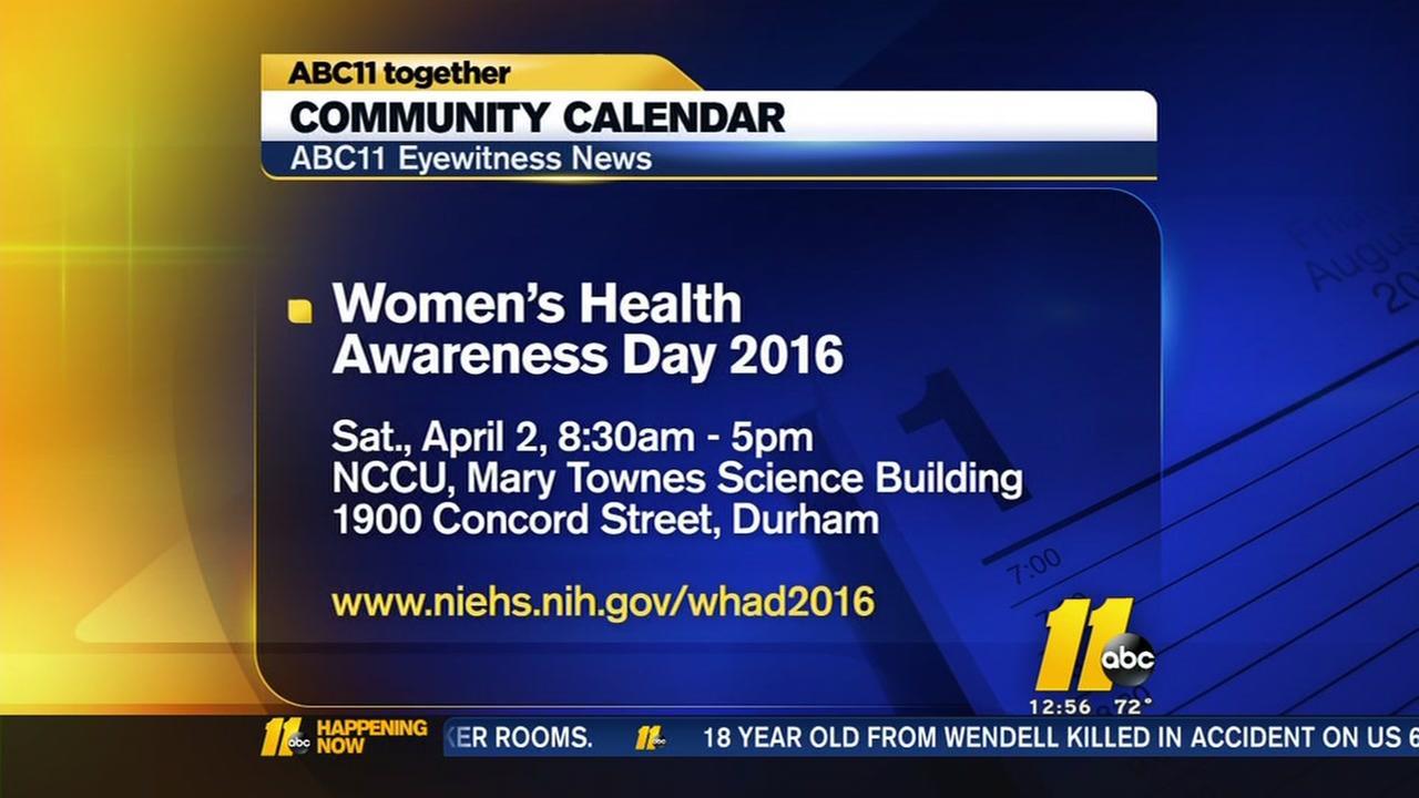 Free health screenings for women