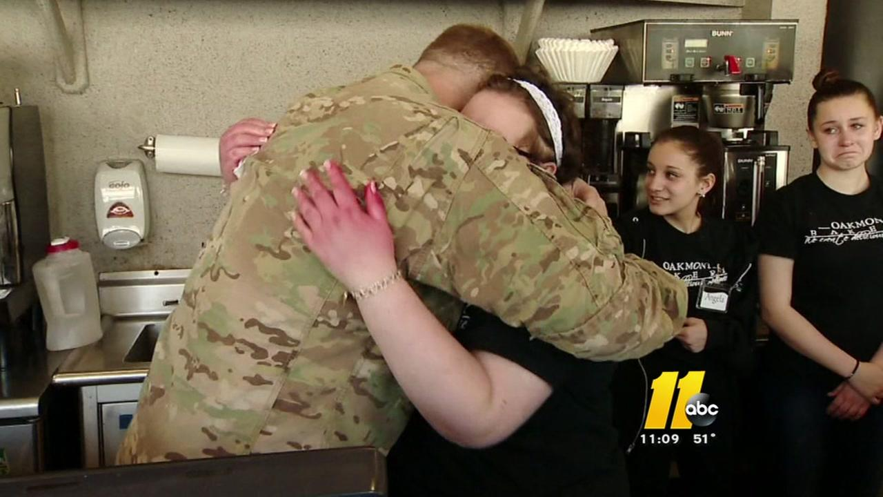 Fort Bragg soldier surprises sister with cancer