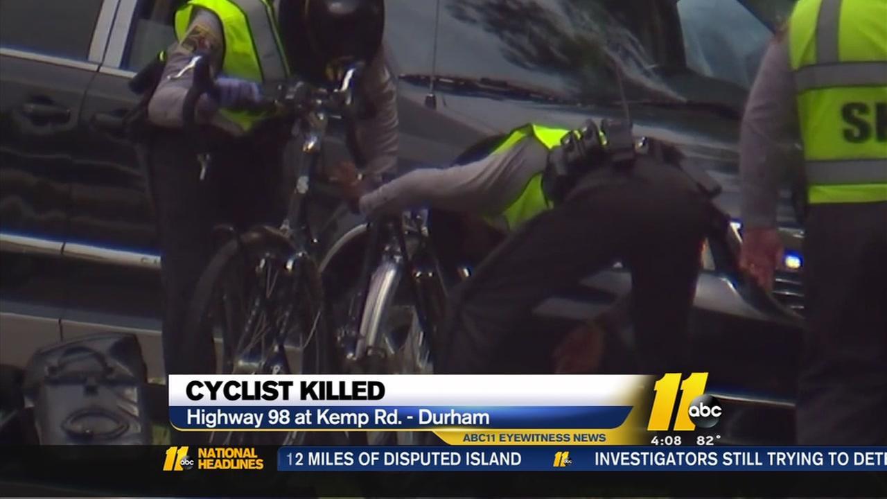 Cyclist killed east of Durham