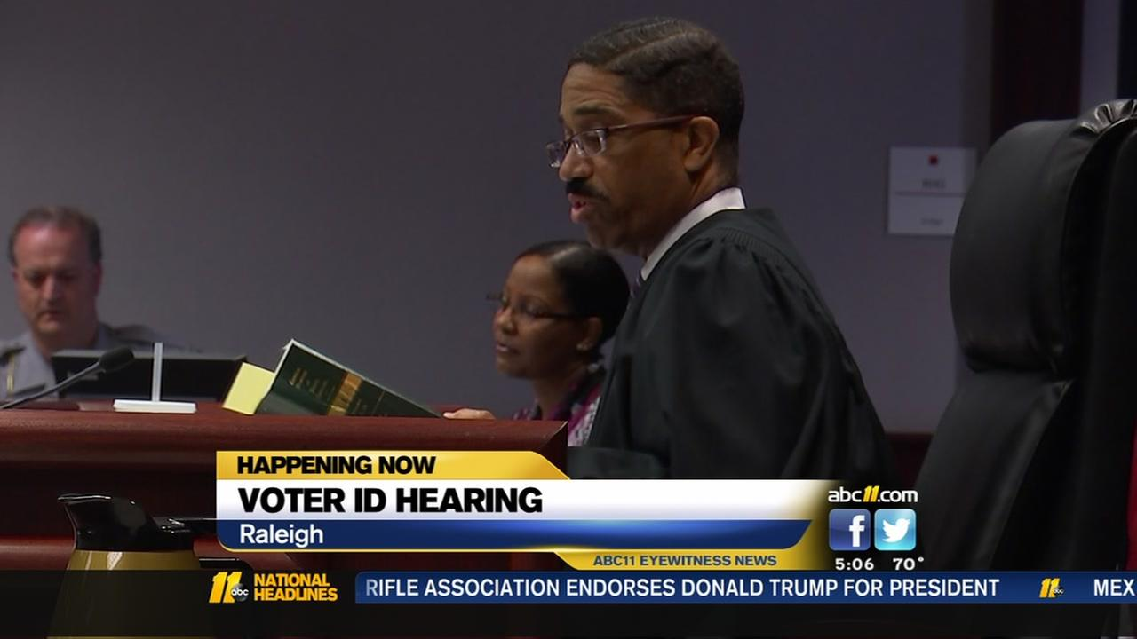 Voter ID hearing