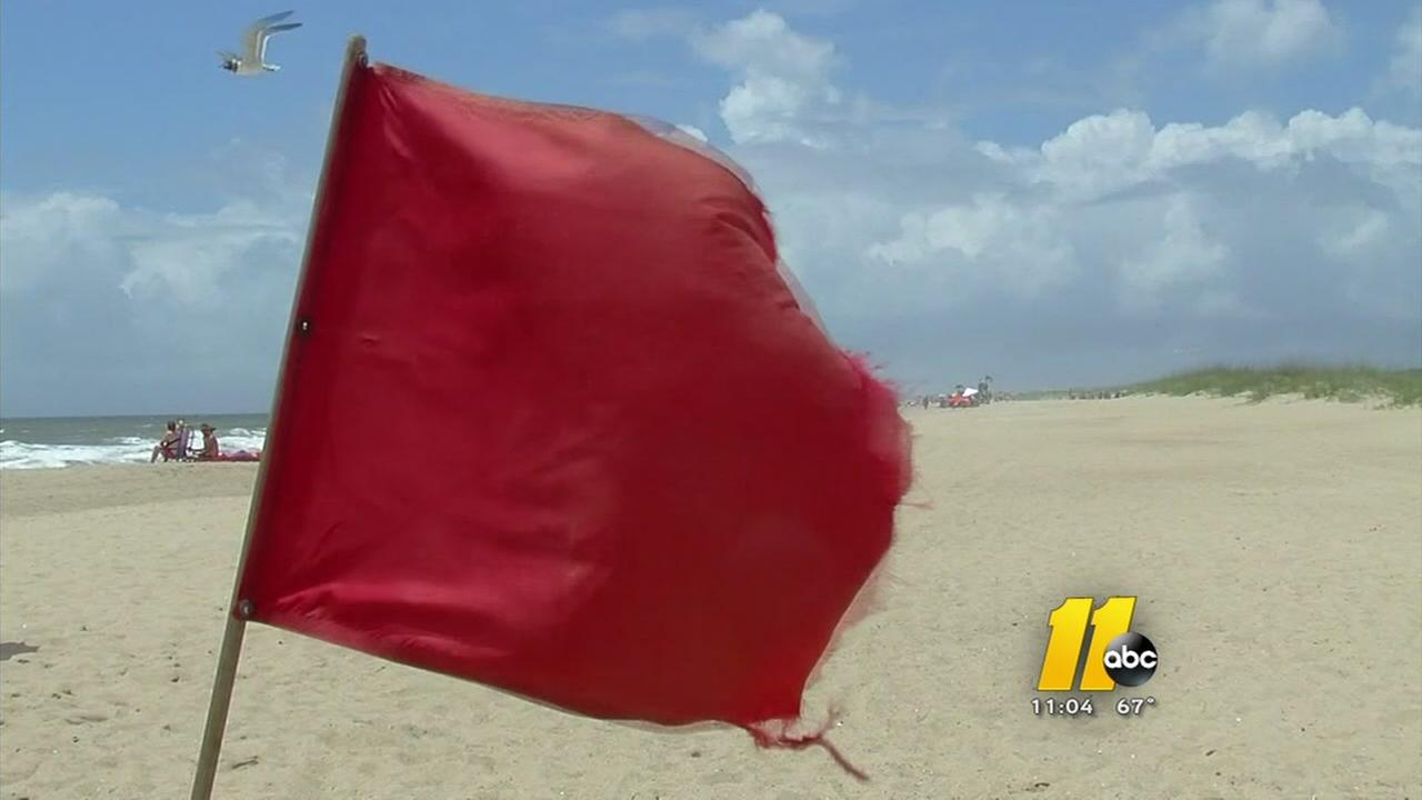 Rip current danger at beaches