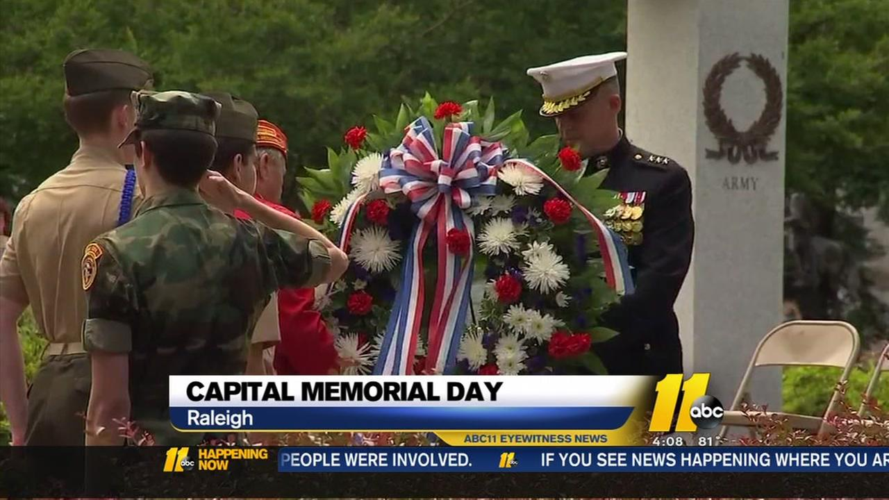 Memorial Day service at Capitol