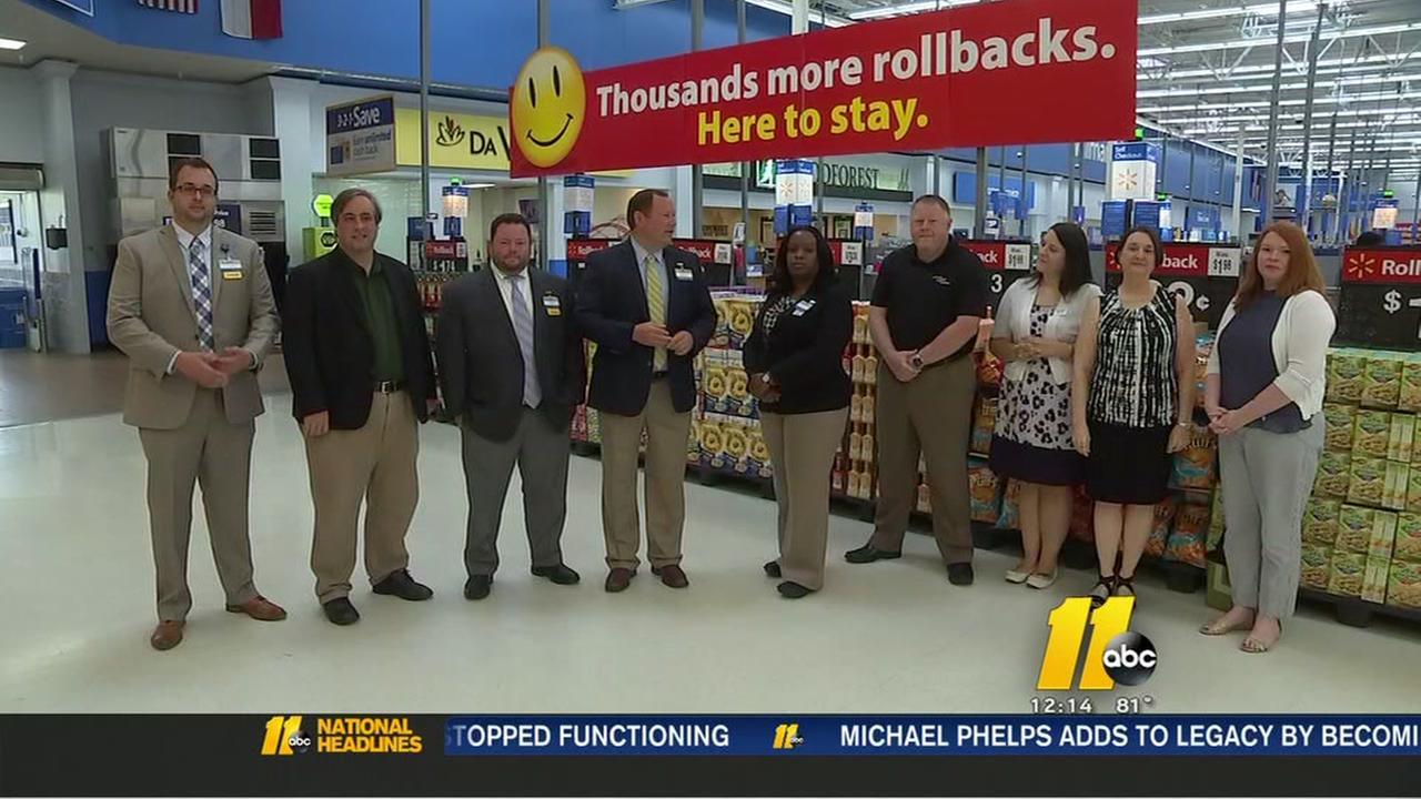 Walmart donates check for hunger