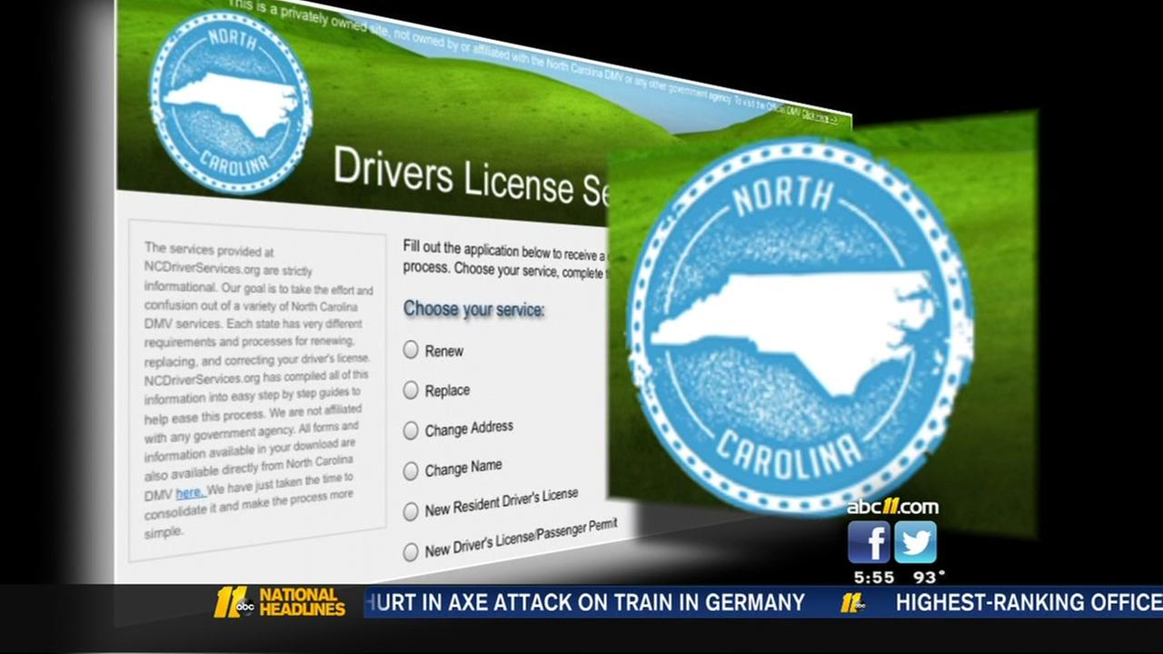 Warning about private sites that look like the DMV