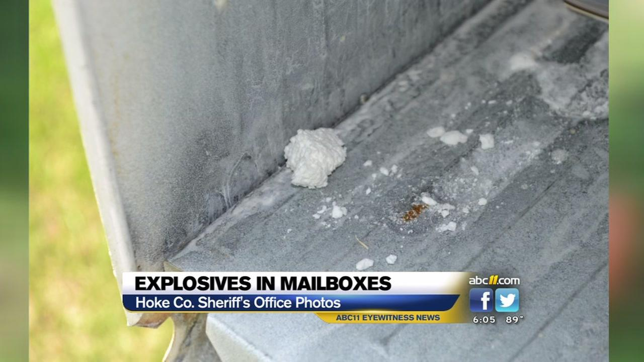 Explosives found in 2 Hoke mailboxes