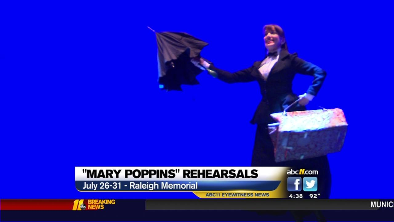 Mary Poppins rehearses in Raleigh