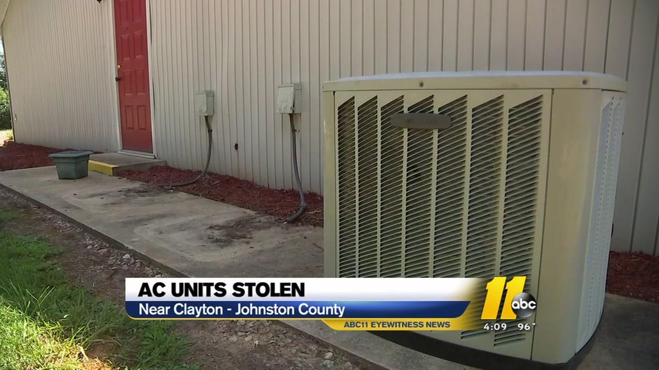 AC units stolen in Johnston County