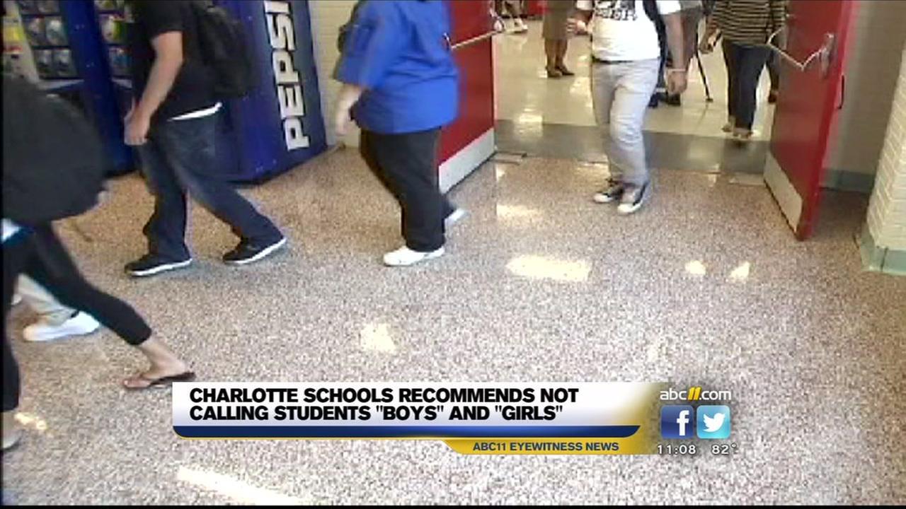 Charlotte schools avoiding gender labels