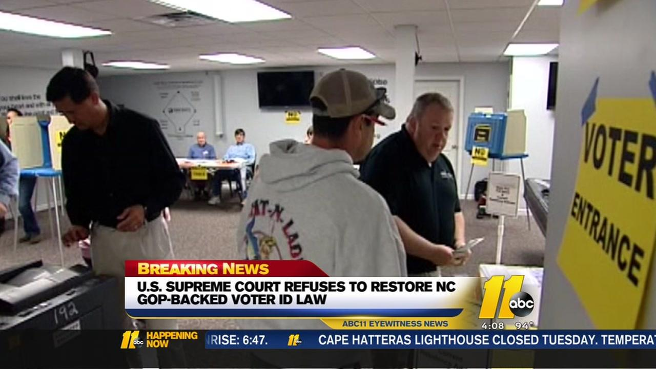 US Supreme Court refuses to restore NC voter ID