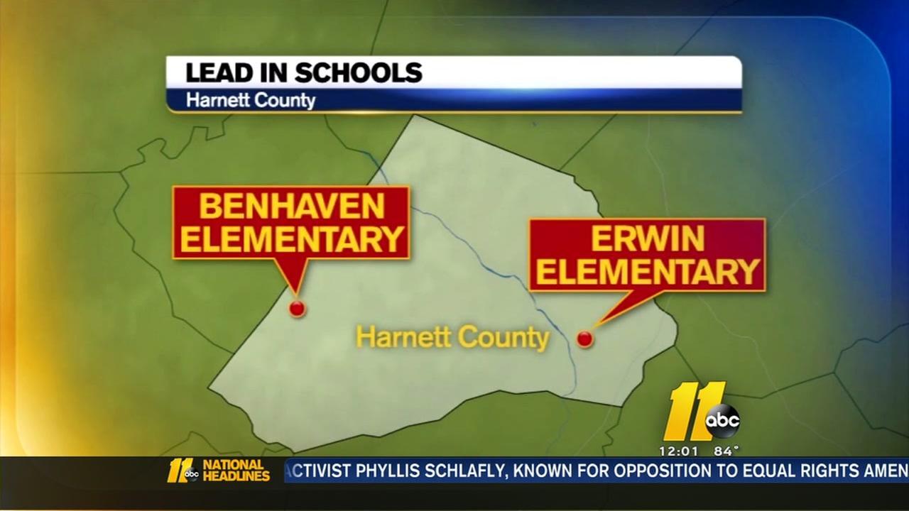 Lead found in 2 Harnett schools