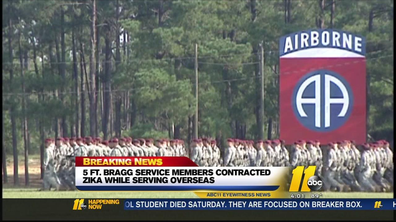 Five Fort Bragg service members contracted Zika