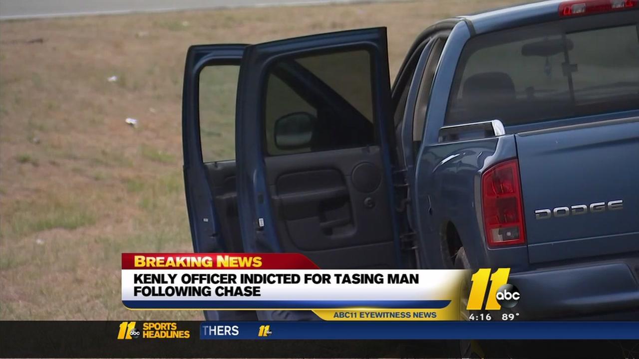 Kenly officer indicted in Taser death